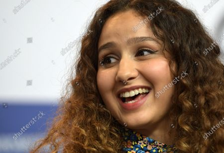 Oulaya Amamra attends the press conference for 'Le Sel Des Larmes (The Salt of Tears)' during the 70th annual Berlin International Film Festival (Berlinale), in Berlin, Germany, 22 February 2020. The movie is presented in the Official Competition at the Berlinale that runs from 20 February to 01 March 2020.