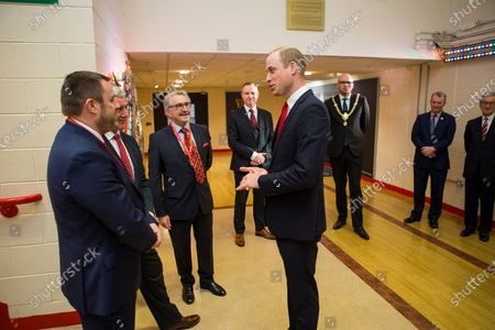 Prince William meets WRU Chief Executive Martyn Phillips.