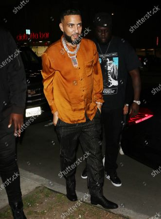 Stock Picture of French Montana outside Boulevard 3 in West Hollywood