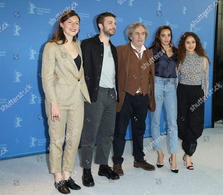Louise Chevillotte, Logann Antuofermo, Philippe Garrel, Souheila Yacoub and Oulaya Amamra