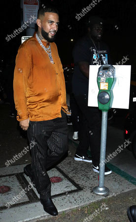 Stock Image of French Montana outside Boulevard 3 in West Hollywood