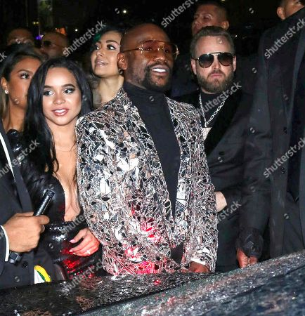 Floyd Mayweather Jr outside Boulevard 3 in West Hollywood