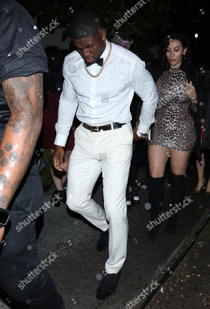 Stock Image of Reggie Bush and Lilit Avagyan outside Boulevard 3 in West Hollywood