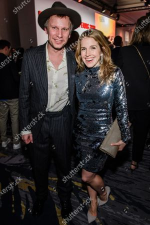 Stock Image of Robert Stadlober (L) and German actress Paula Kalenberg pose during the reception of the Medienboard Berlin-Brandenburg (MBB) at the 70th annual Berlin International Film Festival (Berlinale), in Berlin, Germany, 22 February 2020. The Berlinale runs from 20 February to 01 March 2020.