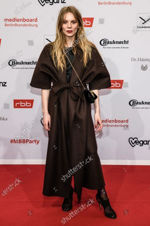 Lilith Stangenberg arrives for the reception of the Medienboard Berlin-Brandenburg (MBB) during the 70th annual Berlin International Film Festival (Berlinale), in Berlin, Germany, 22 February 2020. The Berlinale runs from 20 February to 01 March 2020.