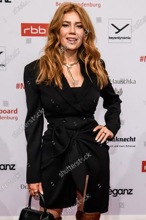 Palina Rojinski arrives for the reception of the Medienboard Berlin-Brandenburg (MBB) during the 70th annual Berlin International Film Festival (Berlinale), in Berlin, Germany, 22 February 2020. The Berlinale runs from 20 February to 01 March 2020.