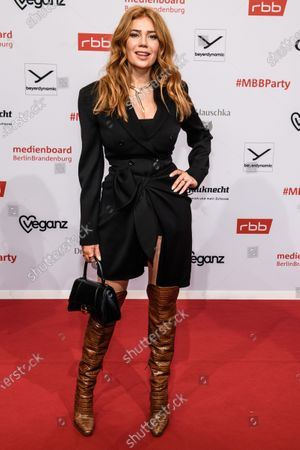 Stock Image of Palina Rojinski arrives for the reception of the Medienboard Berlin-Brandenburg (MBB) during the 70th annual Berlin International Film Festival (Berlinale), in Berlin, Germany, 22 February 2020. The Berlinale runs from 20 February to 01 March 2020.