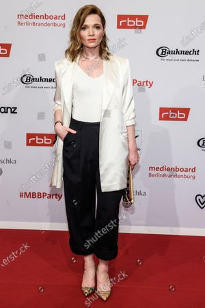 Karoline Herfurth arrives for the reception of the Medienboard Berlin-Brandenburg (MBB) during the 70th annual Berlin International Film Festival (Berlinale), in Berlin, Germany, 22 February 2020. The Berlinale runs from 20 February to 01 March 2020.