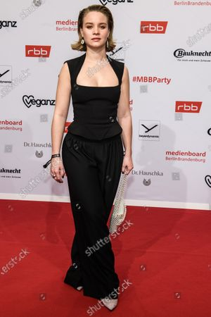 Sonja Gerhardt arrives for the reception of the Medienboard Berlin-Brandenburg (MBB) during the 70th annual Berlin International Film Festival (Berlinale), in Berlin, Germany, 22 February 2020. The Berlinale runs from 20 February to 01 March 2020.