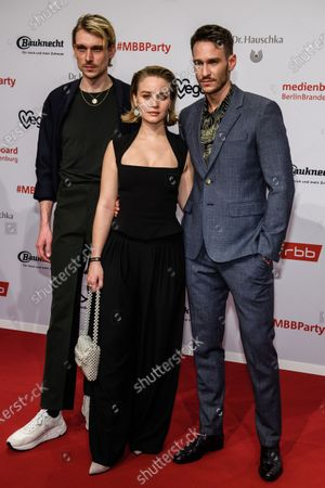 Daniel Straesser, Sonja Gerhardt and Vladimir Burlakov arrive for the reception of the Medienboard Berlin-Brandenburg (MBB) during the 70th annual Berlin International Film Festival (Berlinale), in Berlin, Germany, 22 February 2020. The Berlinale runs from 20 February to 01 March 2020.