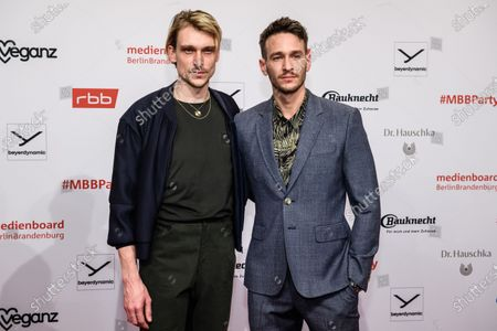 Daniel Straesser (L) and Vladimir Burlakov arrives for the reception of the Medienboard Berlin-Brandenburg (MBB) during the 70th annual Berlin International Film Festival (Berlinale), in Berlin, Germany, 22 February 2020. The Berlinale runs from 20 February to 01 March 2020.