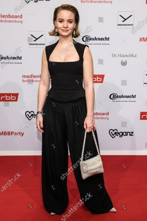Stock Image of Sonja Gerhardt arrives for the reception of the Medienboard Berlin-Brandenburg (MBB) during the 70th annual Berlin International Film Festival (Berlinale), in Berlin, Germany, 22 February 2020. The Berlinale runs from 20 February to 01 March 2020.