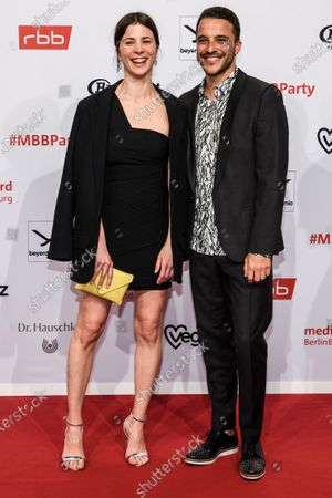 Aylin Tezel (L) and Kostja Ullmann arrive for the reception of the Medienboard Berlin-Brandenburg (MBB) during the 70th annual Berlin International Film Festival (Berlinale), in Berlin, Germany, 22 February 2020. The Berlinale runs from 20 February to 01 March 2020.