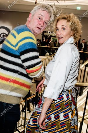 Stock Image of Detlev Buck (L) and German actress Katja Riemann pose during the reception of the Medienboard Berlin-Brandenburg (MBB) at the 70th annual Berlin International Film Festival (Berlinale), in Berlin, Germany, 22 February 2020. The Berlinale runs from 20 February to 01 March 2020.
