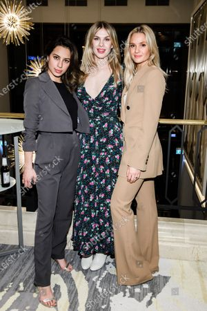 Stock Picture of Gizem Emre, German actress Zsa Zsa Inci Buerkle and German actress Pia Stutzenstein pose during the reception of the Medienboard Berlin-Brandenburg (MBB) at the 70th annual Berlin International Film Festival (Berlinale), in Berlin, Germany, 22 February 2020. The Berlinale runs from 20 February to 01 March 2020.