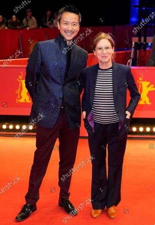 US actor Orion Lee (L) and US director Kelly Reichardt arrive for the premiere of 'First Cow' during the 70th annual Berlin International Film Festival (Berlinale), in Berlin, Germany, 22 February 2020. The movie is presented in the Official Competition at the Berlinale that runs from 20 February to 01 March 2020.