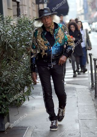 Editorial photo of James Goldstein out and about, Milan Fashion Week, Italy - 22 Feb 2020