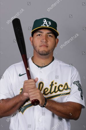_DC1#2. This is a 2020 photo of Carlos Perez of the Oakland Athletics baseball team. This image reflects the 2020 active roster as of, when this image was taken