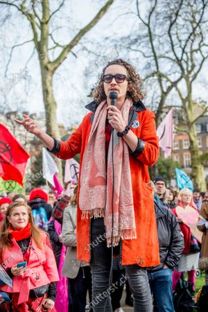 Scottish Actor Robert Sheehan talks during the 'Enough is enough - Together we march'
