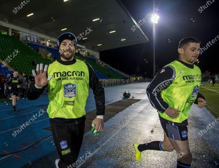 Glasgow Warriors vs Dragons . Glasgow's Ruaridh Jackson