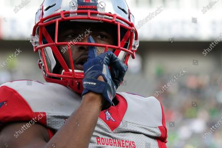 Houston Roughnecks cornerback Jeremiah Johnson (41) reacts during the XFL game between the Houston Roughnecks and the Tampa Bay Vipers held at Raymond James Stadium in Tampa, Florida. Andrew J
