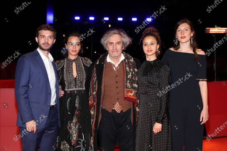 Stock Photo of Logann Antuofermo, Souheila Yacoub, director Philippe Garrel, Oulaya Amamra, and Louise Chevillotte arrive for the premiere of 'Le Sel Des Larmes (The Salt of Tears)' during the 70th annual Berlin International Film Festival (Berlinale), in Berlin, Germany, 22 February 2020. The movie is presented in the Official Competition at the Berlinale that runs from 20 February to 01 March 2020.