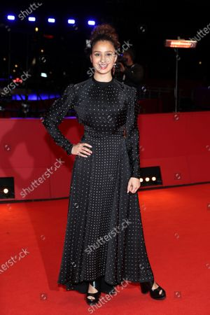 Oulaya Amamra arrives for the premiere of 'Le Sel Des Larmes (The Salt of Tears)' during the 70th annual Berlin International Film Festival (Berlinale), in Berlin, Germany, 22 February 2020. The movie is presented in the Official Competition at the Berlinale that runs from 20 February to 01 March 2020.