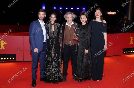 Logann Antuofermo, Souheila Yacoub, director Philippe Garrel, Oulaya Amamra, and Louise Chevillotte arrive for the premiere of 'Le Sel Des Larmes (The Salt of Tears)' during the 70th annual Berlin International Film Festival (Berlinale), in Berlin, Germany, 22 February 2020. The movie is presented in the Official Competition at the Berlinale that runs from 20 February to 01 March 2020.