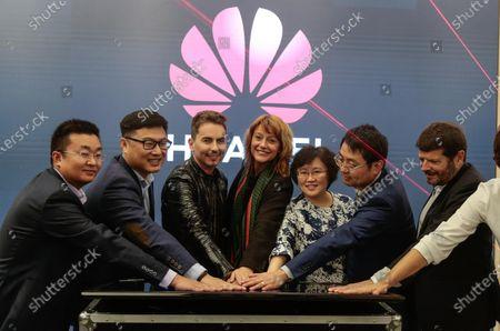 Editorial photo of Huawei Flagship launch, Barcelona, Spain - 22 Feb 2020