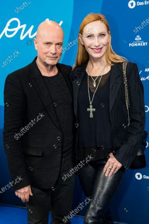 Stock Photo of Christian Berkel (L) and german actress Andrea Sawatzki (R) attend the ARD Blue Hour reception during the 70th annual Berlin International Film Festival (Berlinale), in Berlin, Germany, 21 February 2020. The Berlinale runs from 20 February to 01 March 2020.