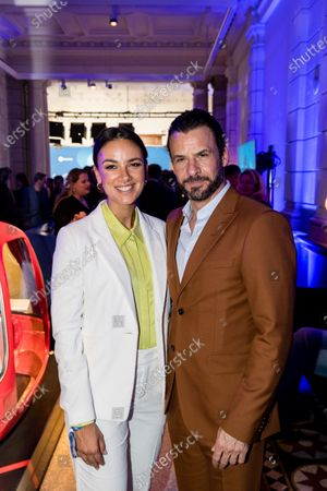 Stephan Luca (R) and Janina Uhse (L) attend the ARD Blue Hour reception during the 70th annual Berlin International Film Festival (Berlinale), in Berlin, Germany, 21 February 2020. The Berlinale runs from 20 February to 01 March 2020.