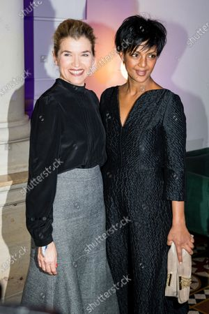 Anke Engelke (L) and German actress Dennenesch Zoude (R) attend the ARD Blue Hour reception during the 70th annual Berlin International Film Festival (Berlinale), in Berlin, Germany, 21 February 2020. The Berlinale runs from 20 February to 01 March 2020.