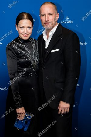 Hannah Herzsprung (L) and Benno Fuermann (R) attend the ARD Blue Hour reception during the 70th annual Berlin International Film Festival (Berlinale), in Berlin, Germany, 21 February 2020. The Berlinale runs from 20 February to 01 March 2020.