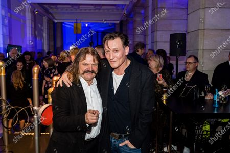 Stock Picture of Leslie Mandoki (L) and German actor Oliver Masucci attend the ARD Blue Hour reception during the 70th annual Berlin International Film Festival (Berlinale), in Berlin, Germany, 21 February 2020. The Berlinale runs from 20 February to 01 March 2020.