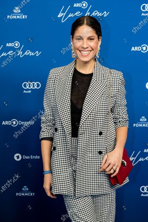 Stock Picture of Jasmin Gerat attends the ARD Blue Hour reception during the 70th annual Berlin International Film Festival (Berlinale), in Berlin, Germany, 21 February 2020. The Berlinale runs from 20 February to 01 March 2020.
