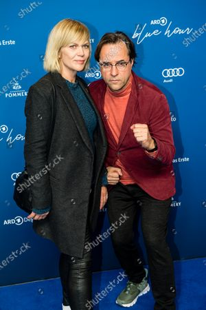 Jan Josef Liefers (R) and Anna Loos (L) attend the ARD Blue Hour reception during the 70th annual Berlin International Film Festival (Berlinale), in Berlin, Germany, 21 February 2020. The Berlinale runs from 20 February to 01 March 2020.