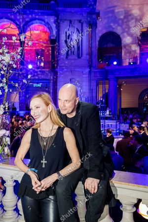 Stock Image of Christian Berkel (R) and Andrea Sawatzki (R) attend the ARD Blue Hour reception during the 70th annual Berlin International Film Festival (Berlinale), in Berlin, Germany, 21 February 2020. The Berlinale runs from 20 February to 01 March 2020.