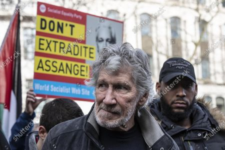 Don't Extradite Assange' protest march in London, Roger Waters of Pink Floyd attend the 'Don't Extradite Assange' protest march from Australia House to Parliament Square in London. Participants include former Greek Minister of Finance and co-Founder DiEM25 Yanis Varoufakis, co-founder of Pink Floyd Roger Waters, Brian Eno, Chrissie Hynde, and fashion designer Vivienne Westwood.