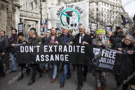 Editorial image of Don't Extradite Assange protest, London, UK - 22 Feb 2020