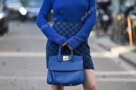 Jessica Wang, bag detail