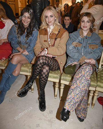 Alessandra Mastronardi, Chiara Ferragni and Emma Marrone
