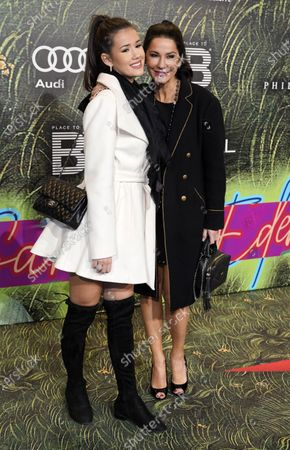 Mariella Ahrens and her daughter Lucia arrive for the Place To B-Party during the 70th annual Berlin International Film Festival (Berlinale), in Berlin, Germany, 22 February 2020. The Berlinale runs from 20 February to 01 March 2020.