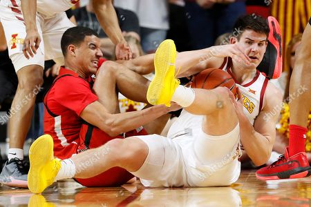 Michael Jacobson, Kevin McCullar. Iowa State forward Michael Jacobson, right, fights for a loose ball with Texas Tech guard Kevin McCullar during the first half of an NCAA college basketball game, in Ames, Iowa