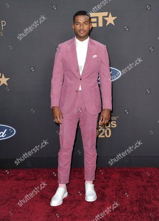 Trevor Jackson arrives at the 51st NAACP Image Awards at the Pasadena Civic Auditorium, in Pasadena, Calif