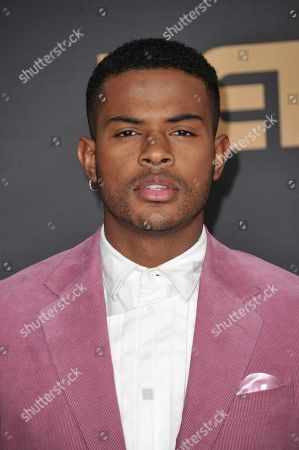Stock Picture of Trevor Jackson arrives at the 51st NAACP Image Awards at the Pasadena Civic Auditorium, in Pasadena, Calif