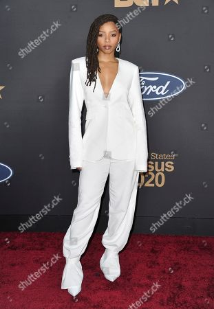 Chloe Bailey arrives at the 51st NAACP Image Awards at the Pasadena Civic Auditorium, in Pasadena, Calif