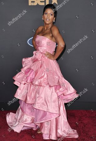 Stock Picture of Tamron Hall arrives at the 51st NAACP Image Awards at the Pasadena Civic Auditorium, in Pasadena, Calif