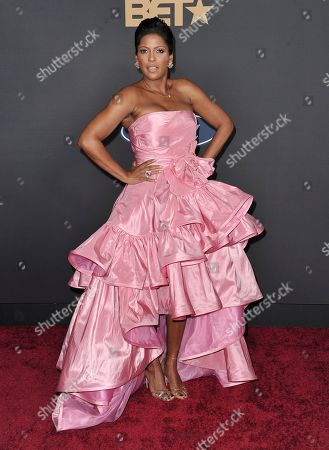 Tamron Hall arrives at the 51st NAACP Image Awards at the Pasadena Civic Auditorium, in Pasadena, Calif