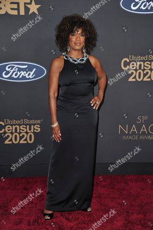 Vanessa Bell Calloway arrives at the 51st NAACP Image Awards at the Pasadena Civic Auditorium, in Pasadena, Calif