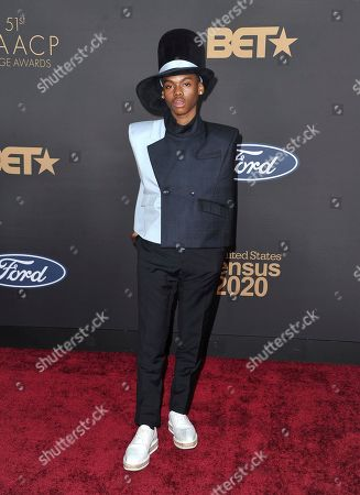 Jahi Di'Allo Winston arrives at the 51st NAACP Image Awards at the Pasadena Civic Auditorium, in Pasadena, Calif